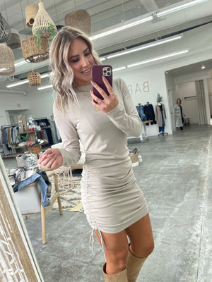 Split Personality Dress Taupe