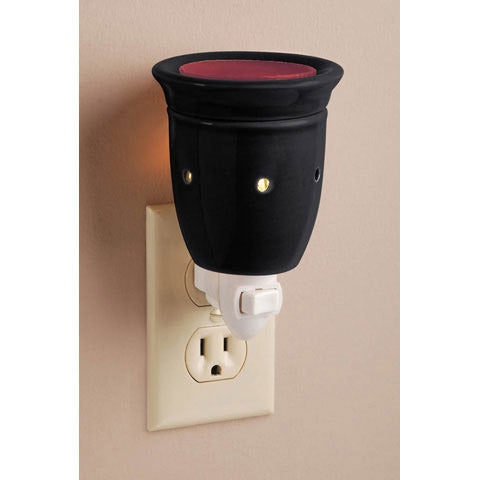 Ceramic Plug-In Wax Warmer - Solid Black Design