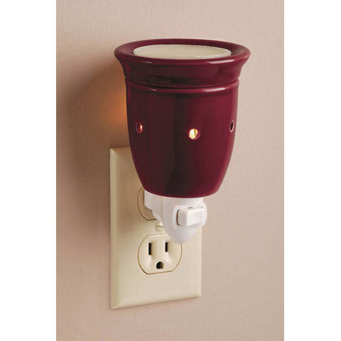 Ceramic Plug-In Wax Warmer - Solid Burgandy Design