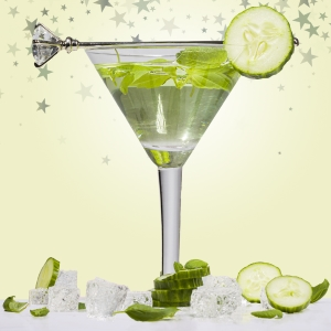 8oz Cucumber Basil Mint Martini