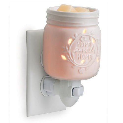 Porcelain Mason Jar Fragrance Warmer - Home Sweet Home