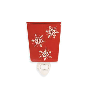Red w/White Snowflakes Plug-In Warmer
