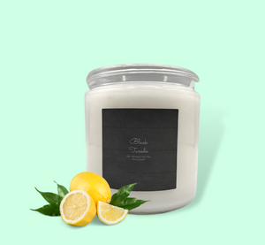 2-wick 16oz Black Tuxedo All Natural Soy Candle
