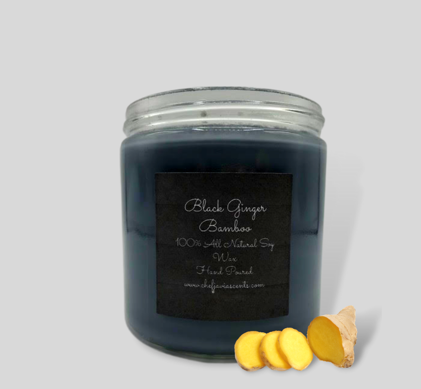 Black Ginger Bamboo All Natural Soy Candle