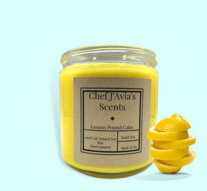 Lemon Pound Cake All Natural Soy Candle