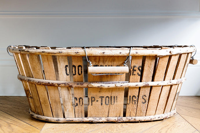 French timber produce basket