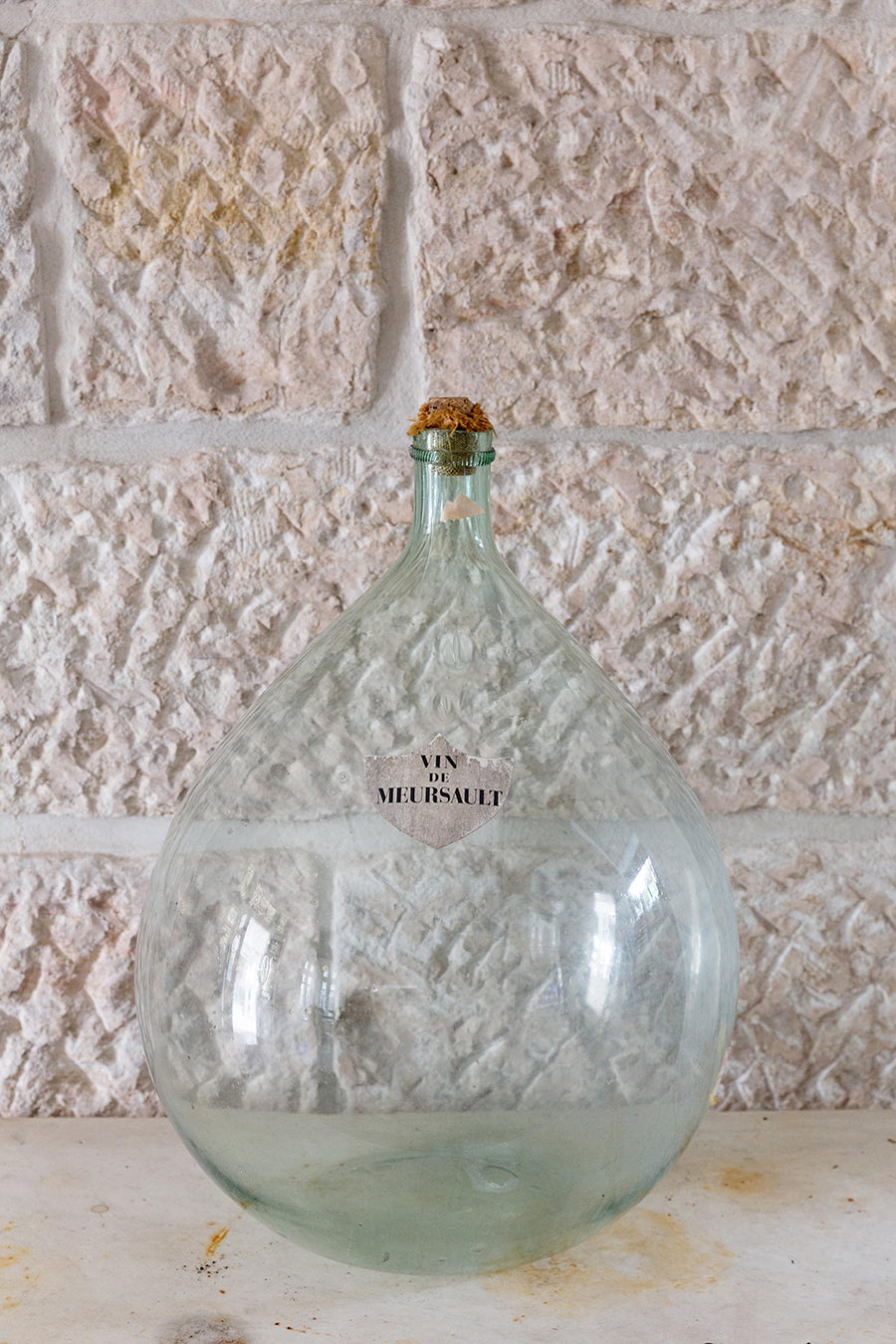 Large French demijohn