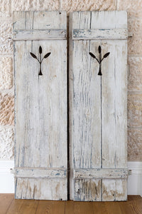 Pair of antique timber shutters