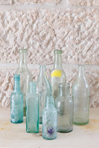 Selection of vintage glass bottles