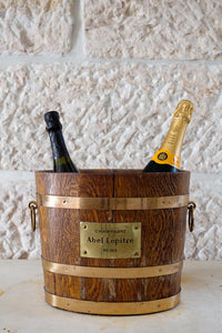 Vintage timber and brass champagne bucket