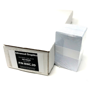 Blank White Cards - CR80 Graphics Quality - 20 mil (500pk)