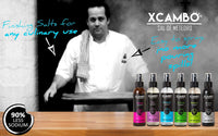 Xcambo Mayan Gourmet Low Sodium Liquid Salt Spray (Turmeric) for Drinks, Dishes and Flavor