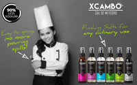 Xcambo Mayan Gourmet Low Sodium Liquid Salt Spray (Hibiscus) for Drinks, Finishing Dishes and Flavor