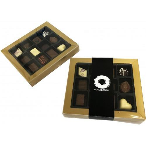 12 Pack Choc Box GOLD Rim - New Age Promotions