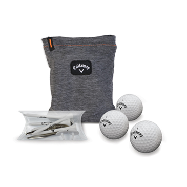 Callaway Clubhouse 3 Ball Valuables Pouch Combo