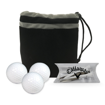 Callaway 3 Ball Valuables Pouch Combo