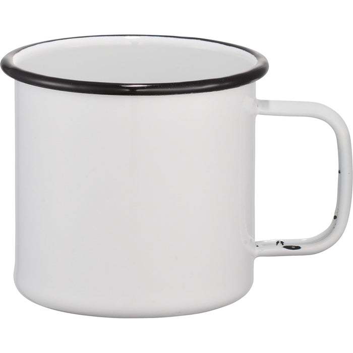 Enamel Metal Cup - White