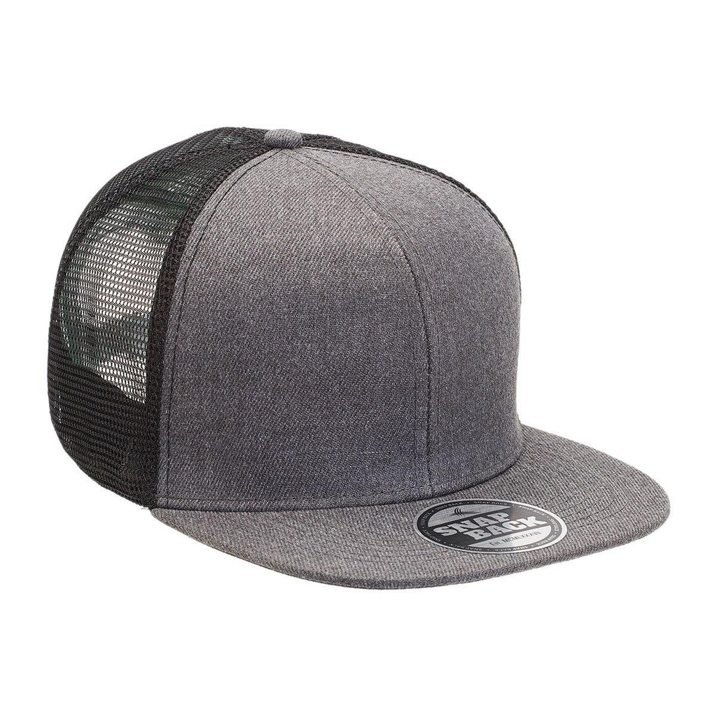 Heathered Flat Peak Trucker