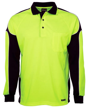 Hi Vis L/S Arm Panel Polo - New Age Promotions