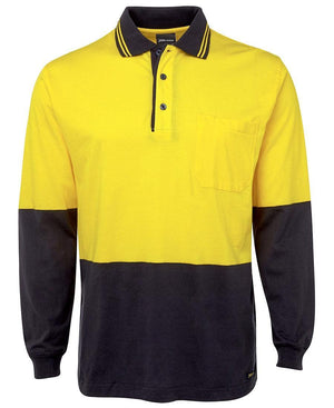 Hi Vis L/S Cotton Polo - New Age Promotions