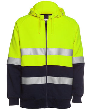 Hi Vis (D+N) Full Zip Fleecy Hoodie - New Age Promotions