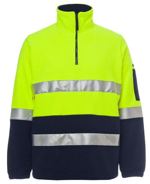 Hi Vis (D+N) 1/2 Zip Polar Fleece - New Age Promotions