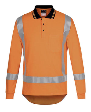 Hi Vis (D+N) L/S Non Cuff TTMC-W Traditional Polo - New Age Promotions
