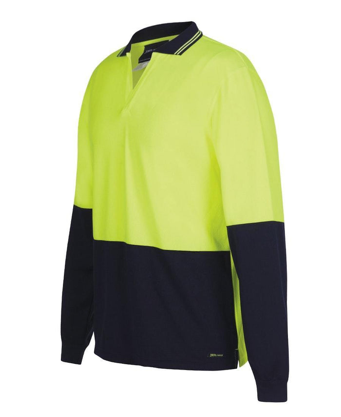 Hi Vis L/S Non Button Polo