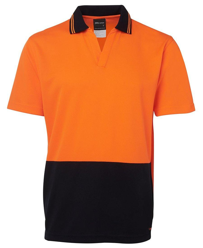Hi Vis S/S Non Button Polo