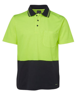 Hi Vis Non Cuff S/S Cotton Back