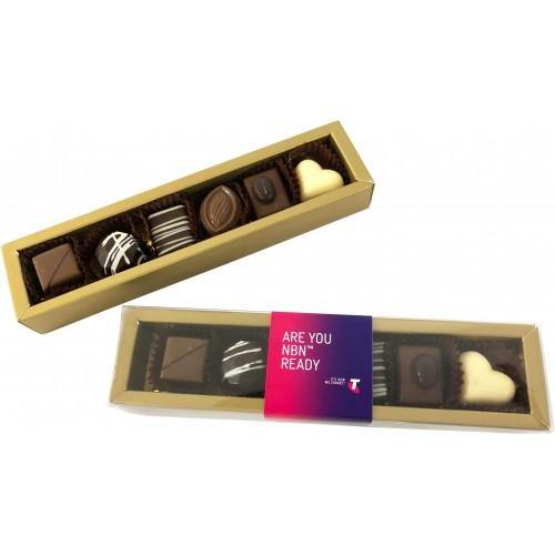 6 Pack Choc Box Assorted Pralines - New Age Promotions