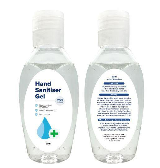 50ml Hand Sanitiser Gel - New Age Promotions