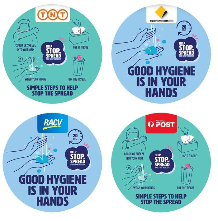 Hygiene Reminder Stickers
