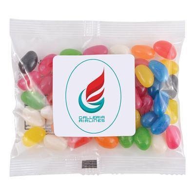 Assorted Colour Mini Jelly Beans in 50 Gram Cello Bag