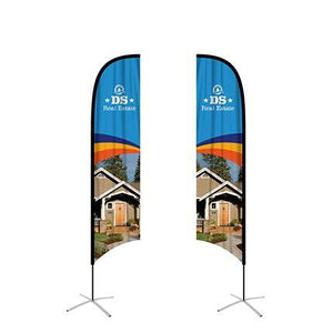 Medium(70.4*300cm) Concave Feather Banners