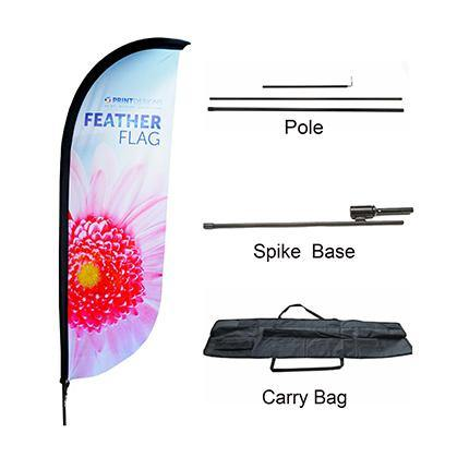 Large(80.5*400cm) Convex Feather Banners