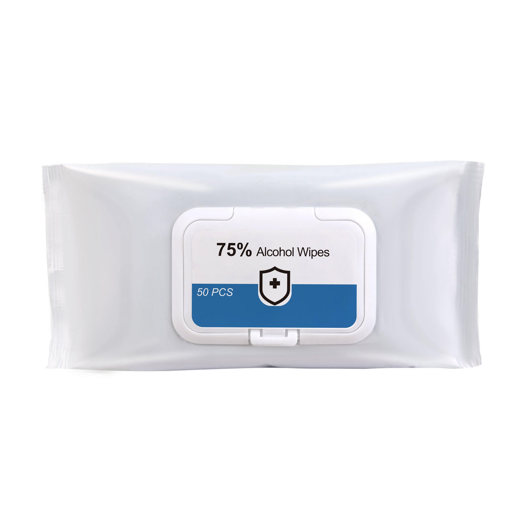 75% Alcohol Wet Wipes - 50PC Pack - New Age Promotions
