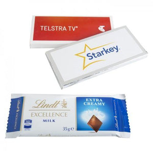 35g Lindt Bar in Custom Box - New Age Promotions
