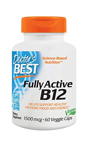 Doctor's Best Fully Active B12 1500 mcg - Non-GMO - Vegan, Gluten Free