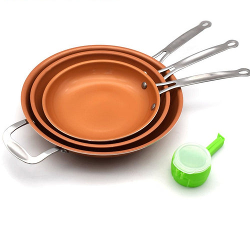 Copper Non-stick Frying Pan w/ Ceramic Coating