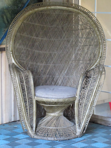 Ancient Style Wicker Chair.