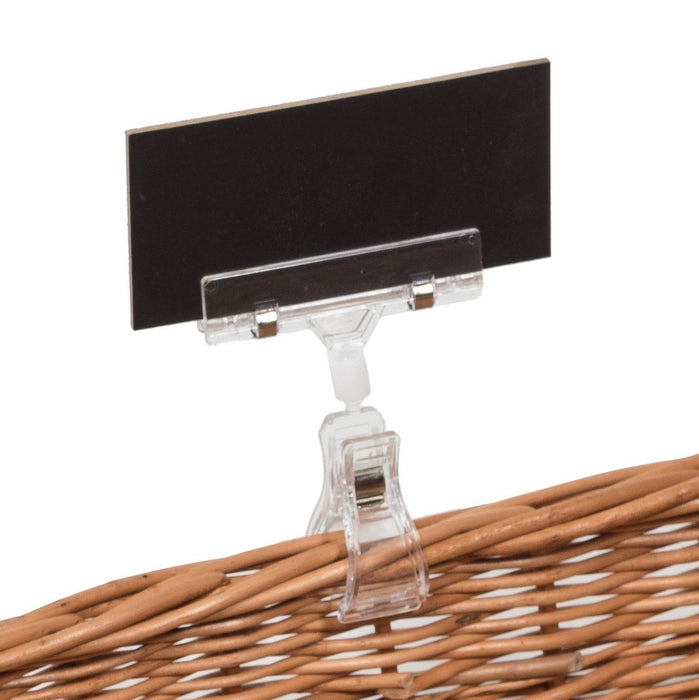 Adjustable Price Holder with Chalkboard (set of 3) Display & Catering Prestige Wicker