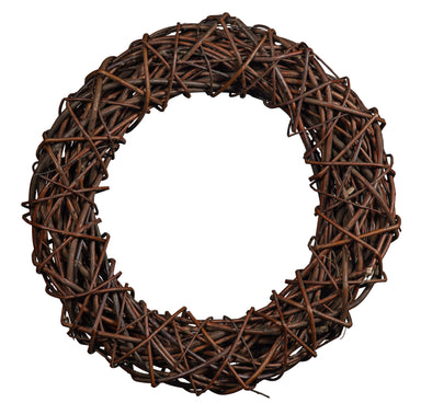Classic Dark Natural Willow Chunky Spiralled Wreath Home & Garden Prestige Wicker Medium