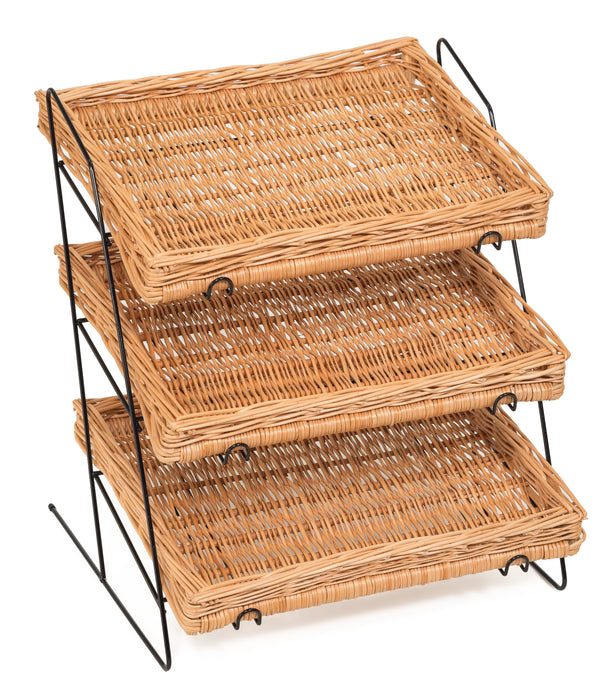 Counter Top Display Stand Shallow Tray Display & Catering Prestige Wicker