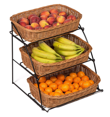 Counter Top Stand Three Display Baskets Display & Catering Prestige Wicker