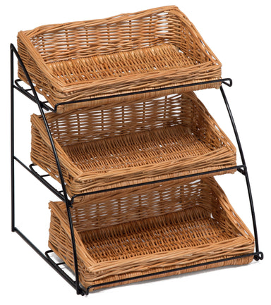 Countertop Display Stand with Wicker Baskets Display & Catering Prestige Wicker