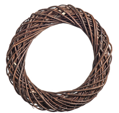 Dark Natural Willow Chunky Wreath Home & Garden Prestige Wicker Large