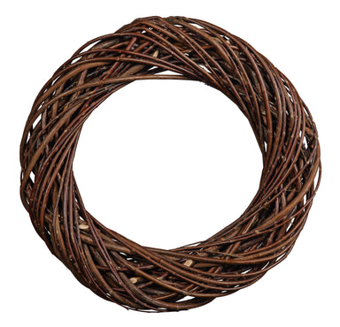 Dark Natural Willow Chunky Wreath Home & Garden Prestige Wicker Medium