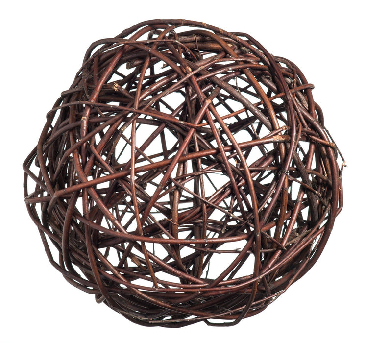 Dark natural Willow Decorative Ball Home & Garden Prestige Wicker Small