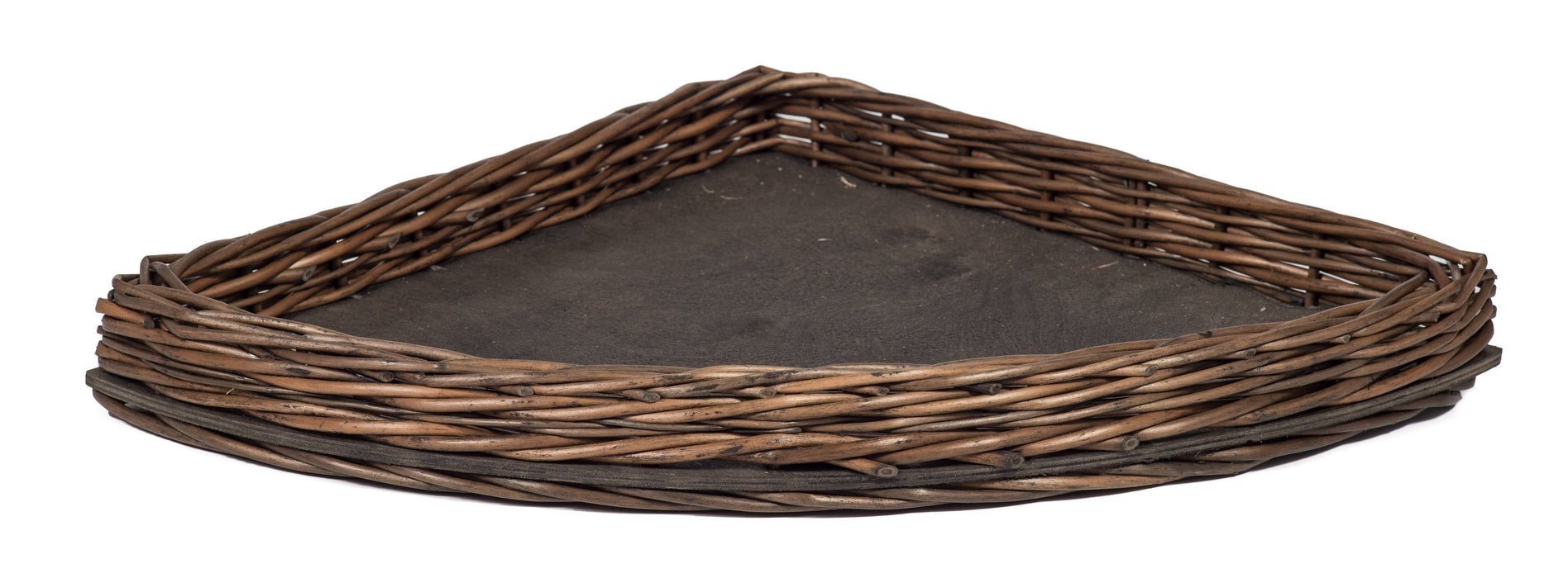 Dark Wicker Corner Display Tray Basket Prestige Wicker